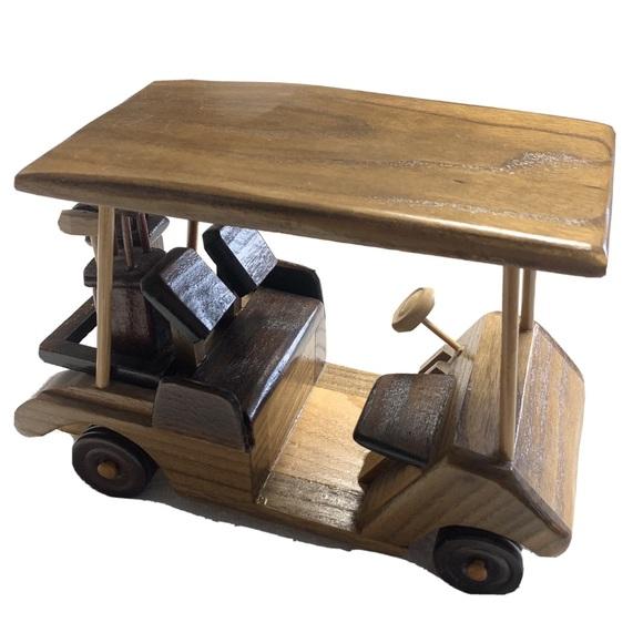 Mahogany | Desktop Golf Cart Clubs Wood Decor